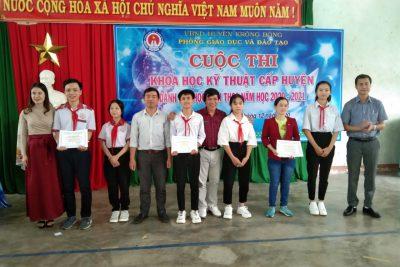Phòng Giáo dục và Đào tạo huyện Krông Bông tổ chức cuộc thi Khoa học kỹ thuật cấp huyện năm 2020