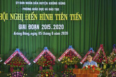 Ngành Giáo dục huyện Krông Bông tuyên dương các điển hình tiên tiến giai đoạn 2015-2020