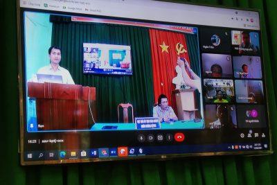 Phòng Giáo dục và Đào tạo huyện Krông Bông tổ chức Hội nghị trực tuyến cán bộ CNTT cấp THCS
